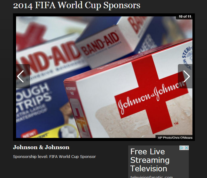 FIFA World Cup Sponsor Johnson & Johnson