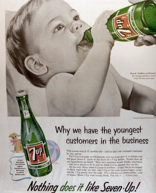 Baby Drinking 7 up