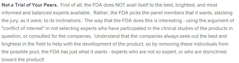 FDA Stacking the Deck