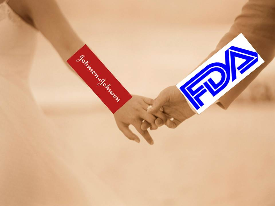 Johnson & Johnson holding hands with The FDA