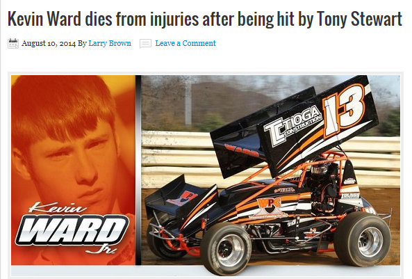 Kevin Ward dies from injuries from Tony Stewart