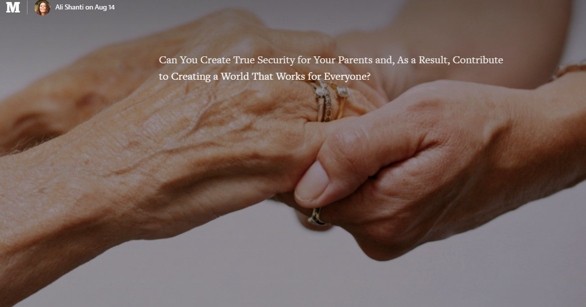 Ali Shanti True Security for Your Parents