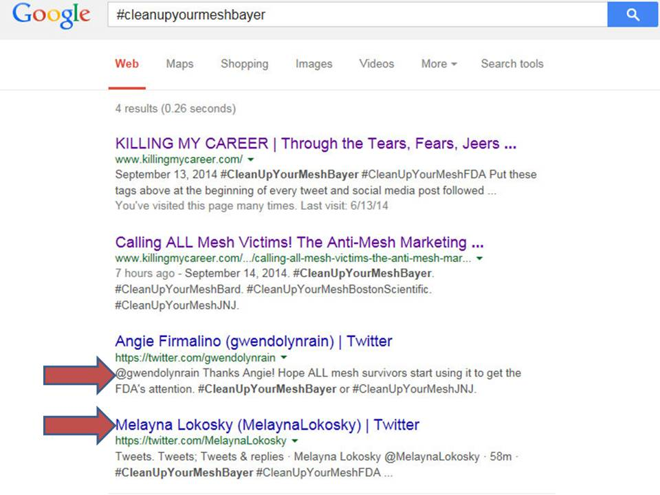 Twitter to Google Anti Mesh Marketing Campaign