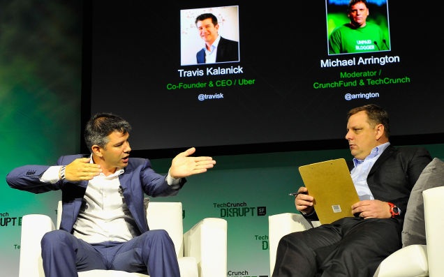 Uber CEO and Mike Arrington Getty Image
