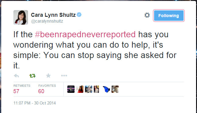 Cara Lynn Shultz on Twitter If the #beenrapedneverreported