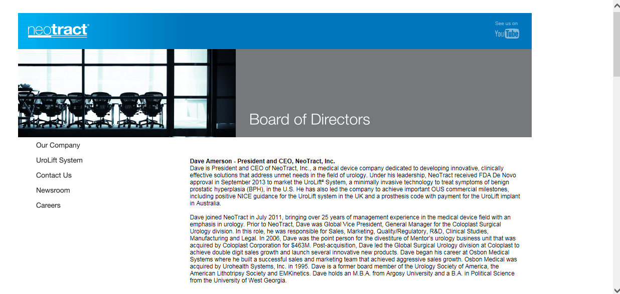Neotract Board 11 7 2014