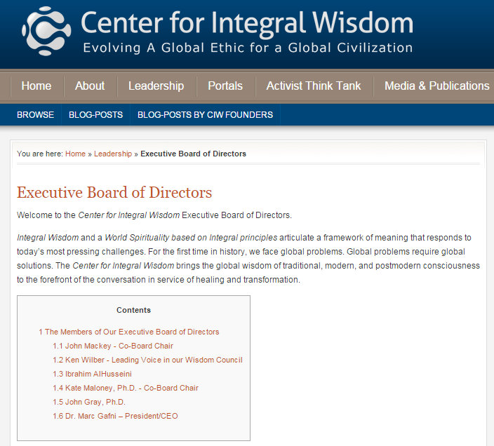 Center for Integral Wisdom