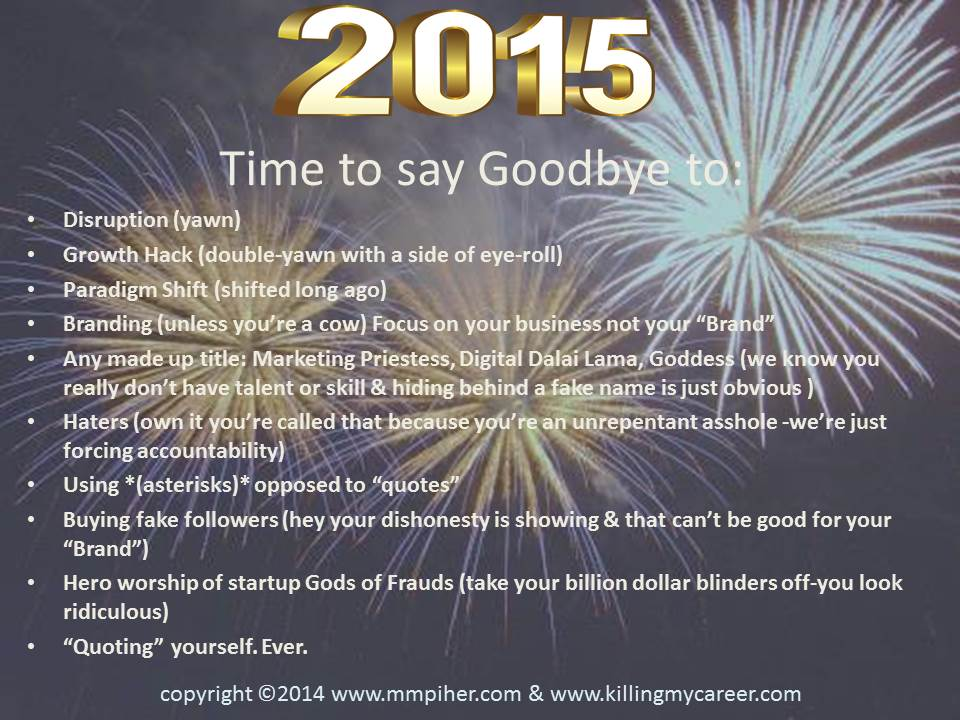 Time to Say Goodbye to 2015 updated 12 12