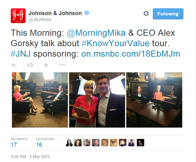 JNJ Know Your Value Alex Gorsky March 2 2015
