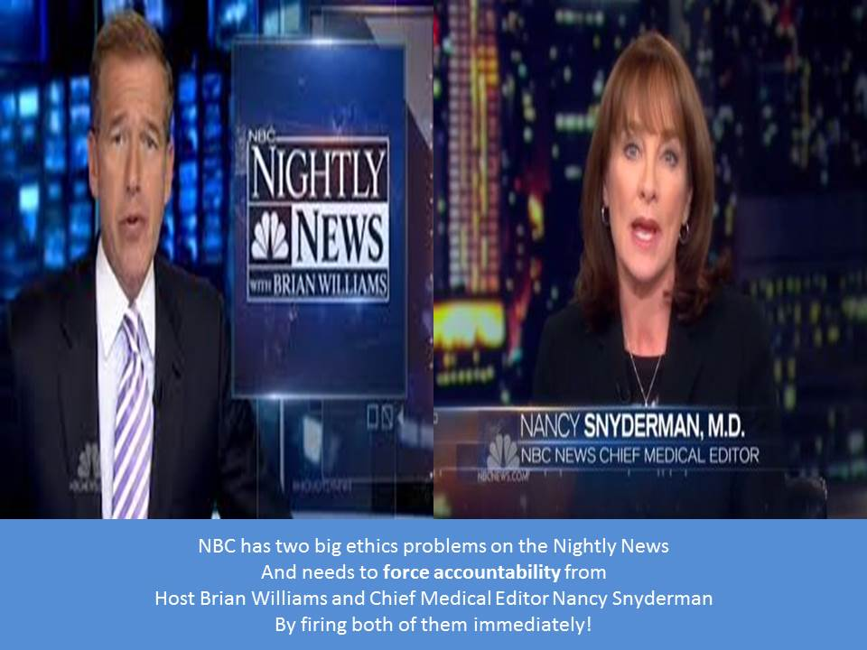 NBC needs to fire Brian Williams and Nancy Snyderman