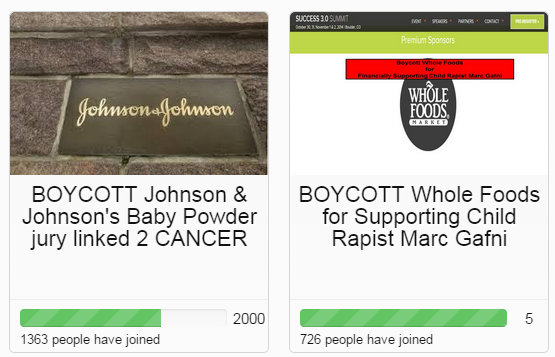 Trending Boycott Whole Foods and Johnson & Johnson 3 13 2015