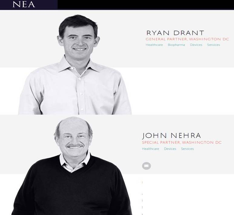 NEA John Nehra and Ryan Drant board of ExploraMed which funded Acclarent