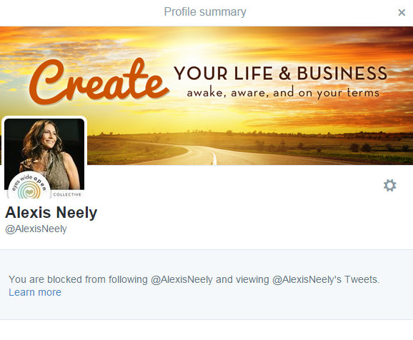 #TwitterBlocked is the new #ForcedAccountability for Professional Victims Like Alexis Martin aka Ali Shanti