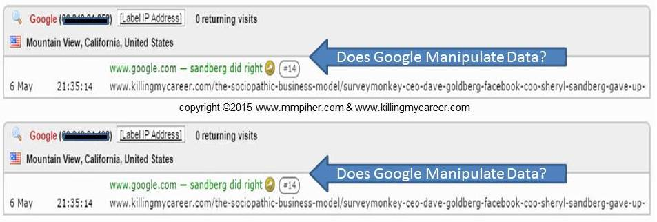 Does Google Manipulate Data Sandberg Did Right #KillingMyCareer