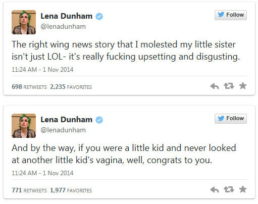 Professional Victim Lena Dunham and Show Girls should be canceled