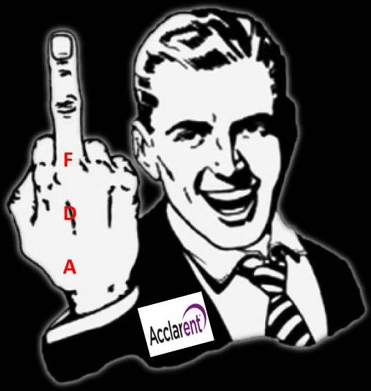 Did Johnson & Johnsons Ethicons Acclarent give the FDA the finger final