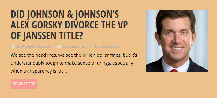 Is Johnson & Johnson CEO Alex Gorsky removing titles from bio to distance from billion dollar DOJ fines?