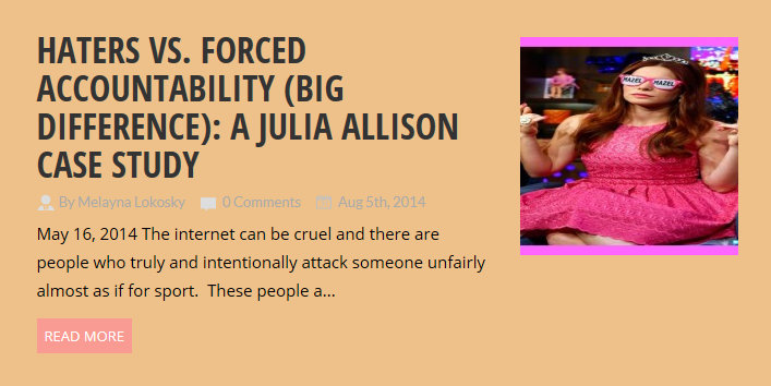 Is a possible name change similar to the Right To Be Forgotten US? Julia Baugher vs Julia Allison