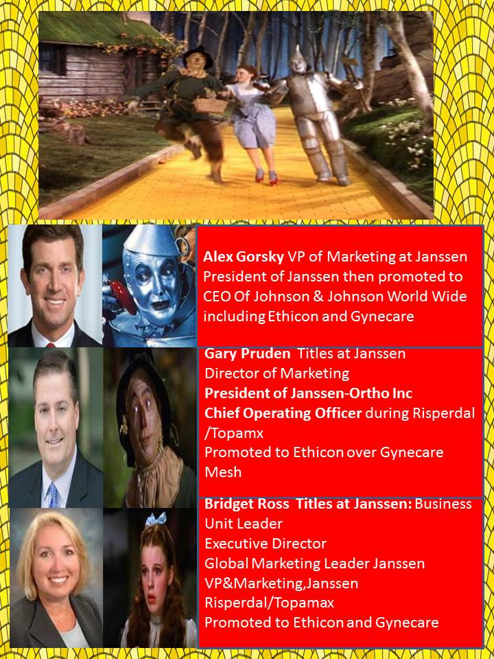 Johnson & Johnson's serial killing CEO Alex Gorsky and accomplices Gary Pruden & Bridget Ross