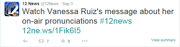 Ruiz message about her on air pronunciation 5