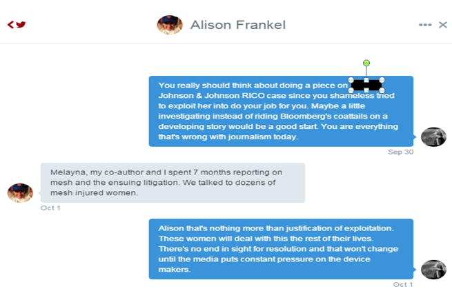 Reuters Editor On The Case Alison Frankel's justification for victim exploitation