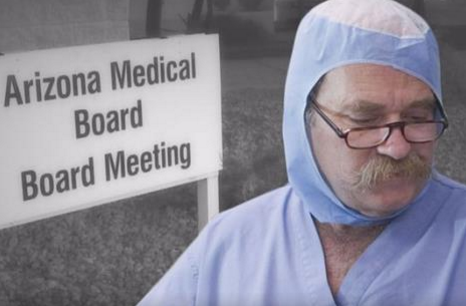 The late Dr. William Leighton best known for his medical malpractice victim, Amy Ashcroft, who made national news when she disrobed to show disfigurment in front of the Arizona Medical Board