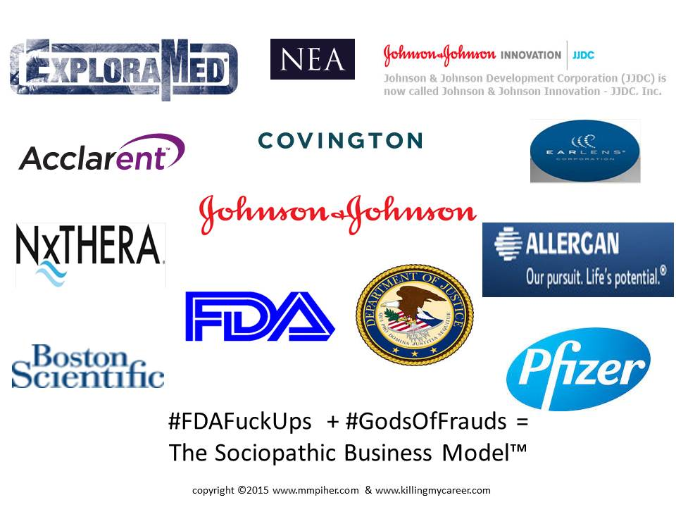 #FDAFuckUps #GodsOfFrauds The Sociopathic Business Model™