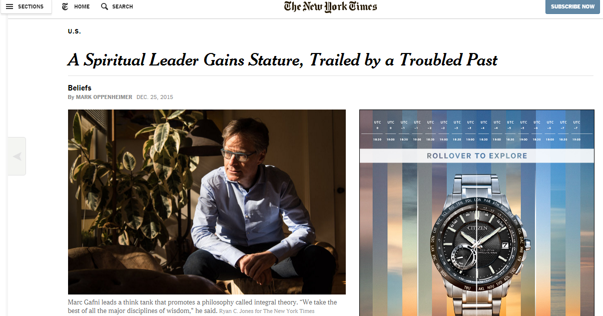 The New York Times intential omission of Gafni's name & child rapist past help Gafni's SEO at the expense of all victims