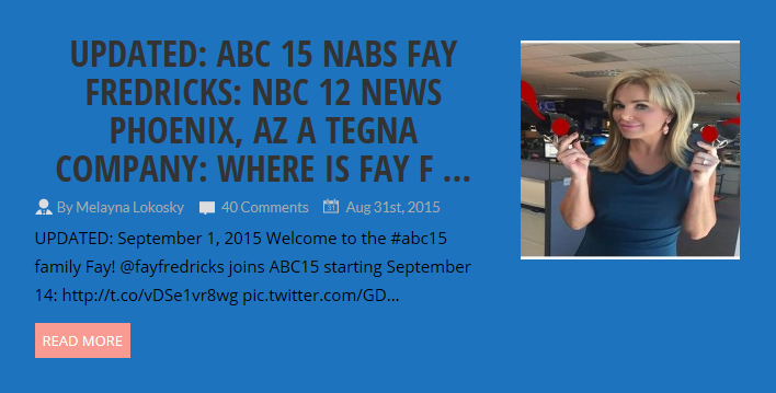 TEGNA NBC 12 News unethical treatment to 14 year station veteran Fay Fredricks