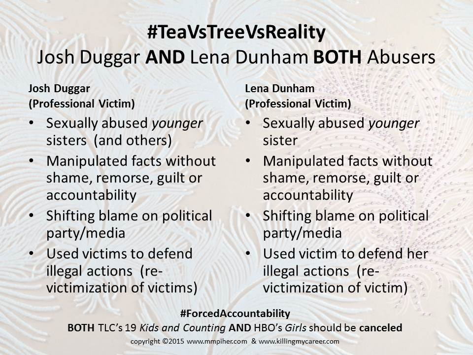 TeaVsTreeVsReality Duggar & Dunhams shows both should be canceled