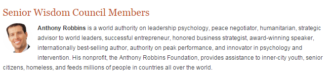 Tony Robbins is also an accomplice of Gafni