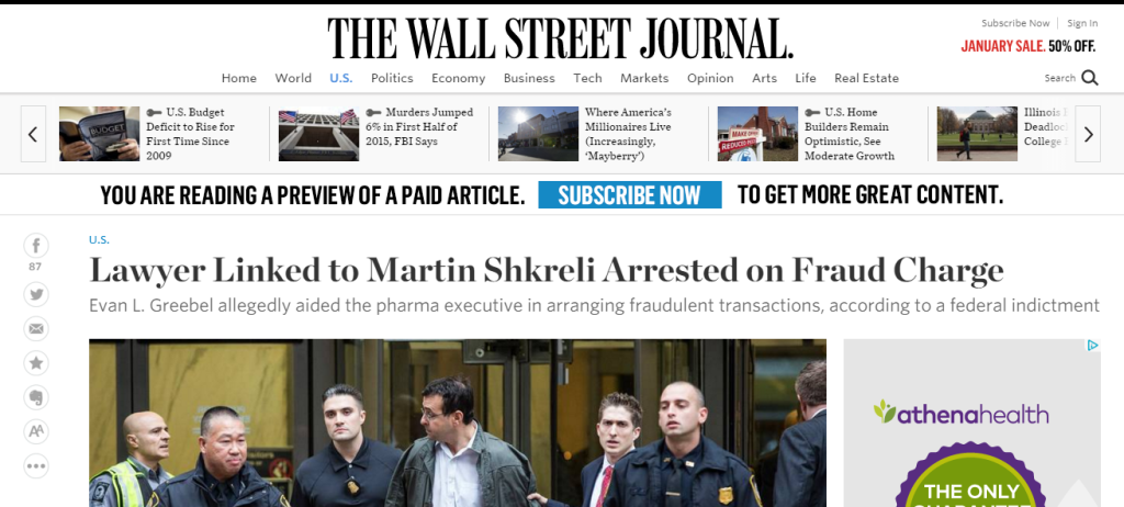 Yates memo Evan L Greebel attorney for Martin Shkreli also arrested