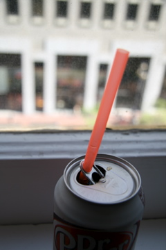 Straw in soda