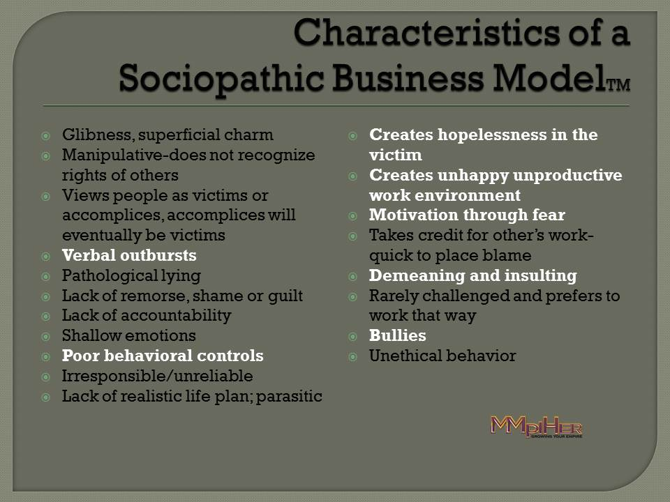 Sociopathic Business Model
