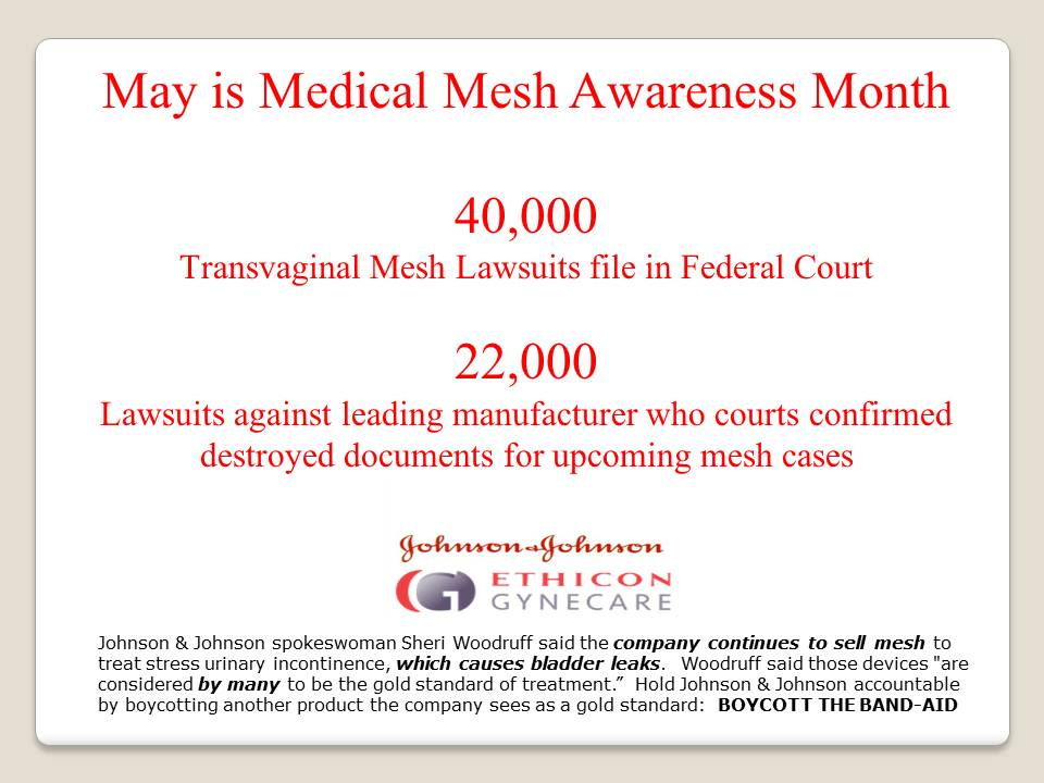 Medical Mesh Awareness Boycott the Band Aid