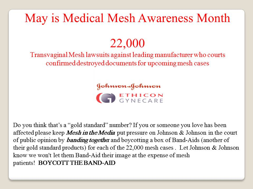 Mesh Awareness Boycott The Band Aid