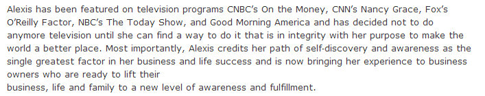 Alexis Martin Neely TV appearances inconsistent and contradictory language