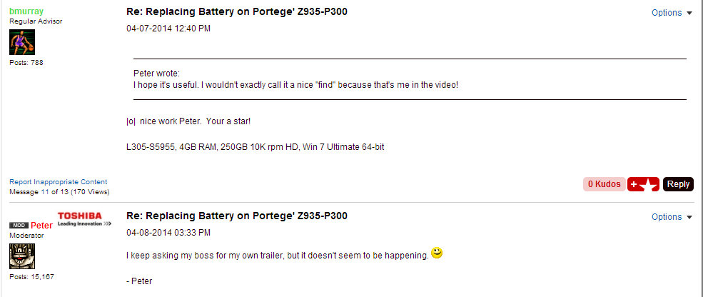 Toshiba Portege Z395 P300 Battery Change SCAM Peter2