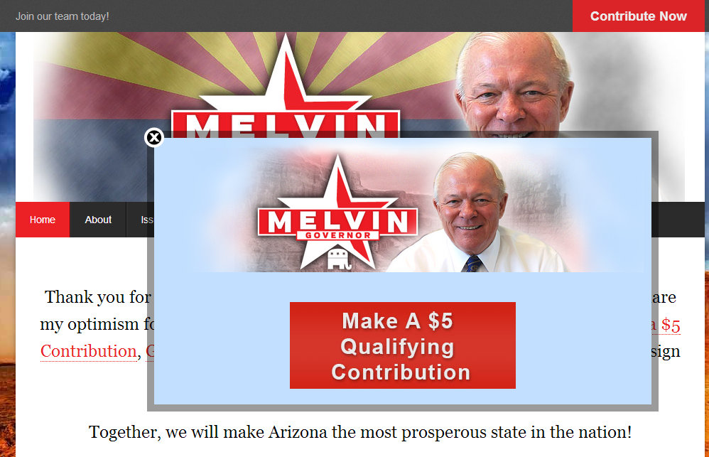 Al Melvin Campaign Donation Image-Off Putting