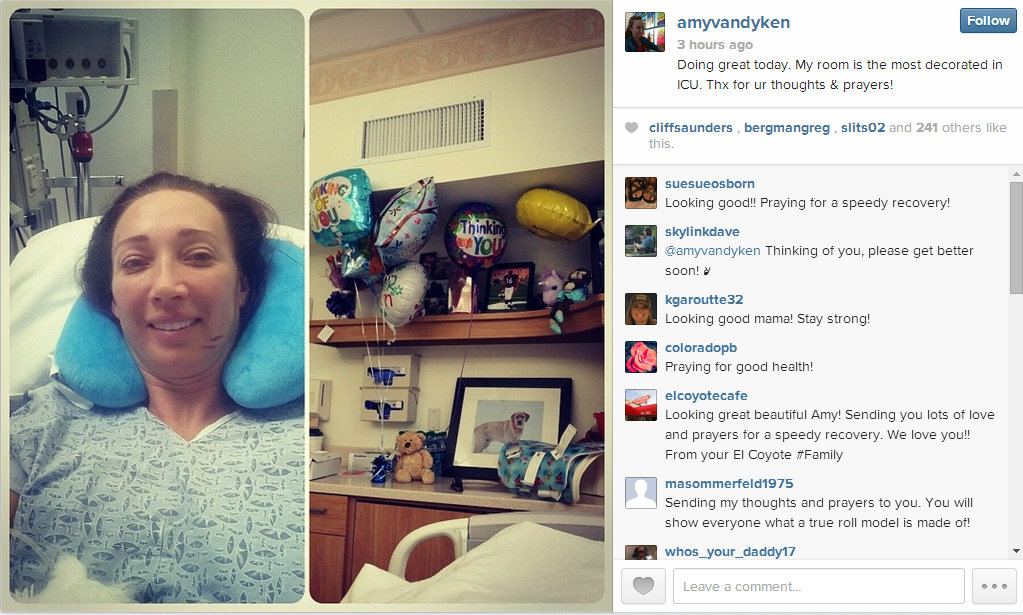 Amy Van Dyken Rouen from ICU