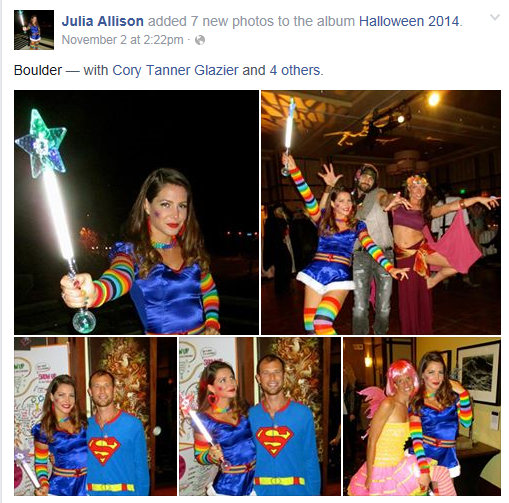 Julia Allison Inconsistent & Contradictory language to action Halloween Costume
