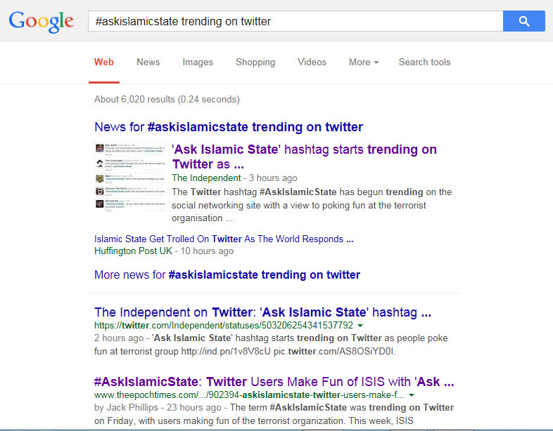 #AskIslamicState GoogleCensorship3