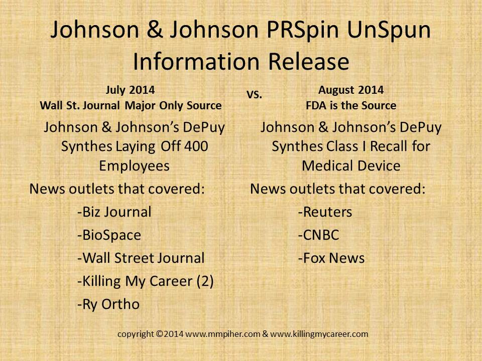 Is Johnson & Johnson in bed with the Wall Street Journal regarding release of information
