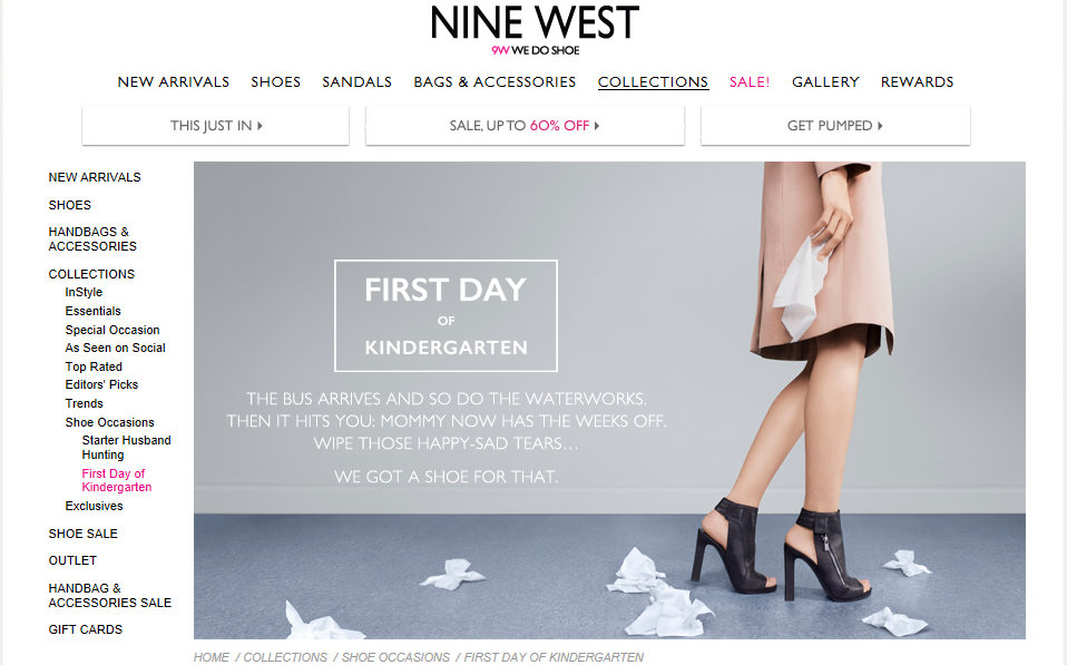 Nine West Out of Touch marketing Kindergarten
