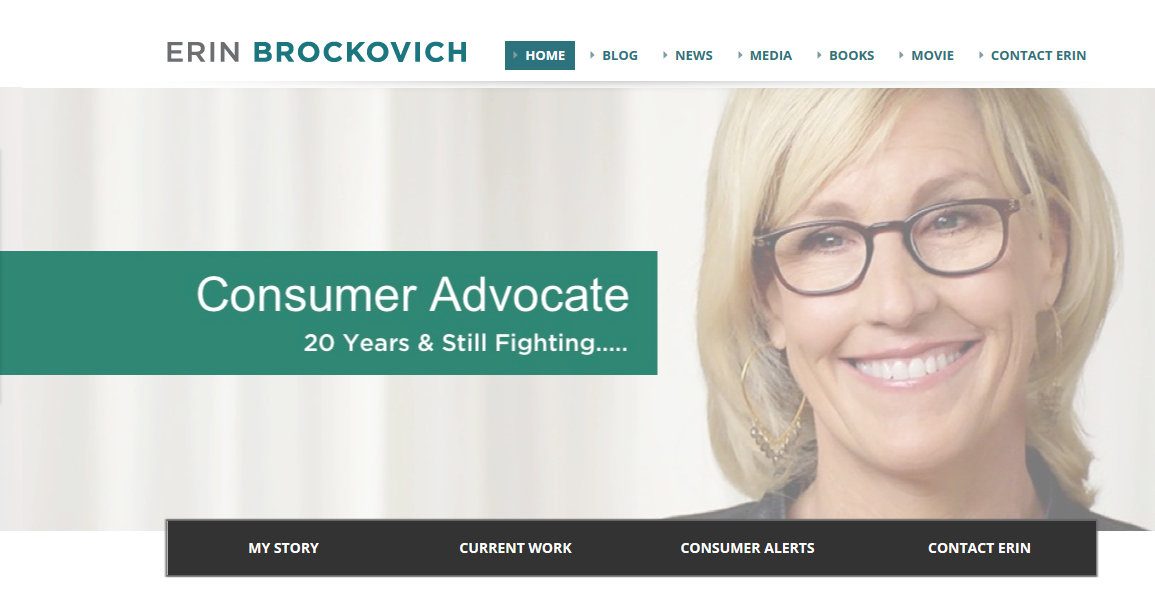 Erin Brockovich from own site