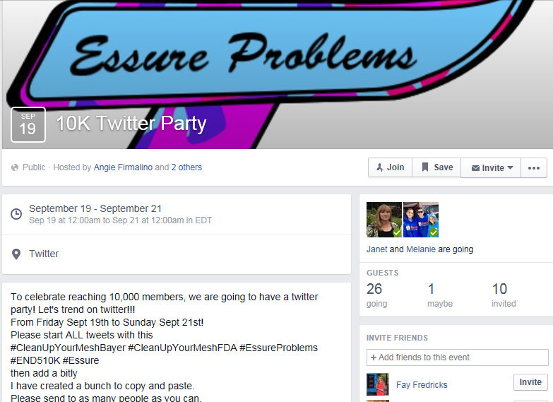 Essure-Twitter Party