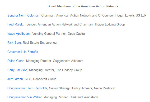 Board Members of the American Action Network