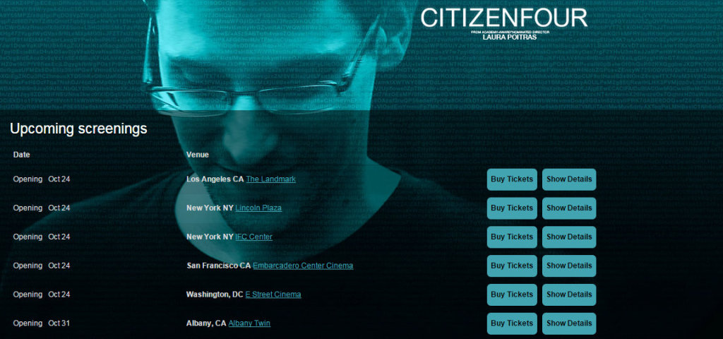 Citizenfour Laura Poitras Edward Snowden