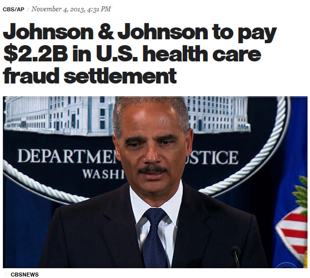 Holder JNJ Press Release $2.2 Billion Risperdal