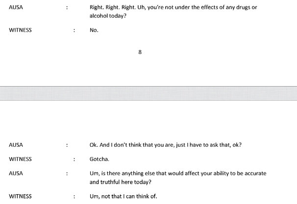 FBI Witness 16 Page 8 and 9